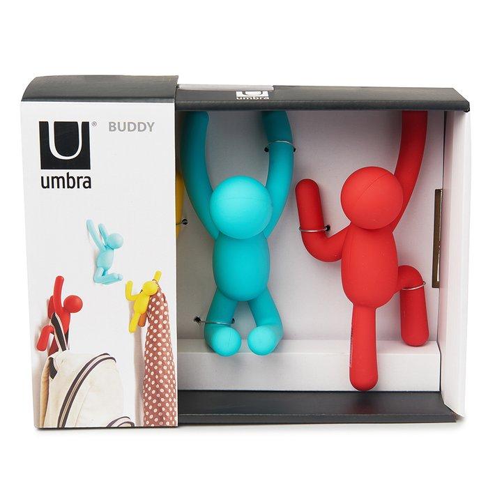 Набор из трех разноцветных вешалок-крючков Umbra  Buddy