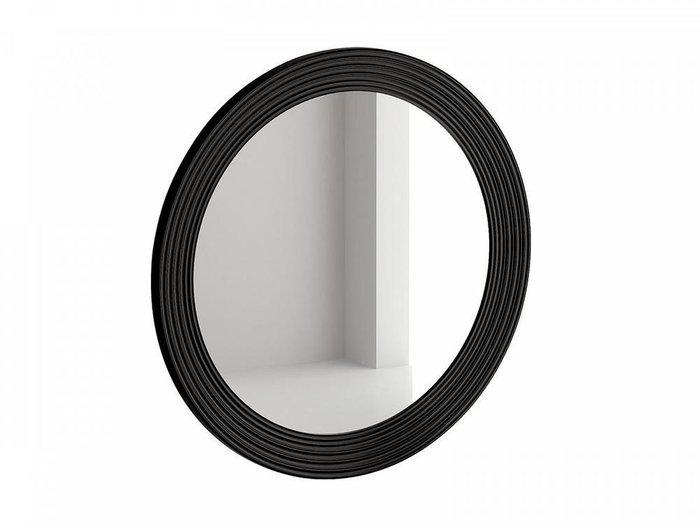 Настенное зеркало Cloud в раме черного цвета