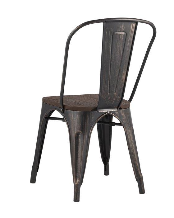 Стул Tolix Wood черного цвета