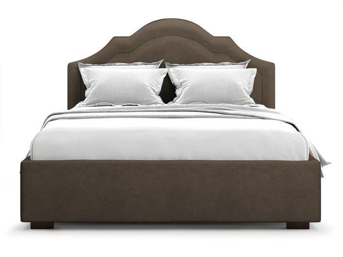 Кровать с подъемным механизмом Madzore 140х200 коричневого цвета