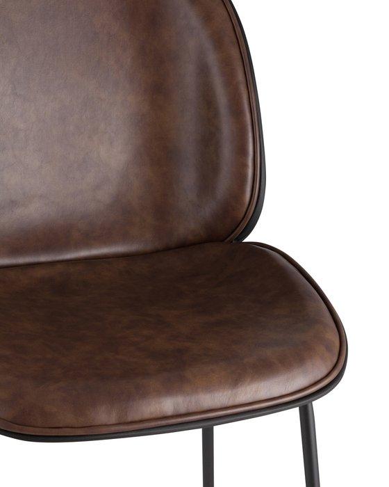 Стул барный Beetle PU темно-коричневого цвета