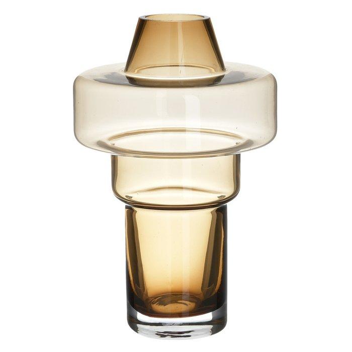 Стеклянная ваза янтарного цвета