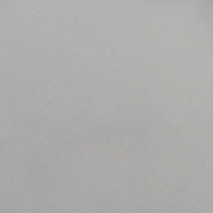 Простыня на резинке из сатина светло-серого цвет 60х120х20