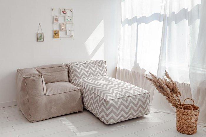 Лежак Flat Design с принтом зигзаг
