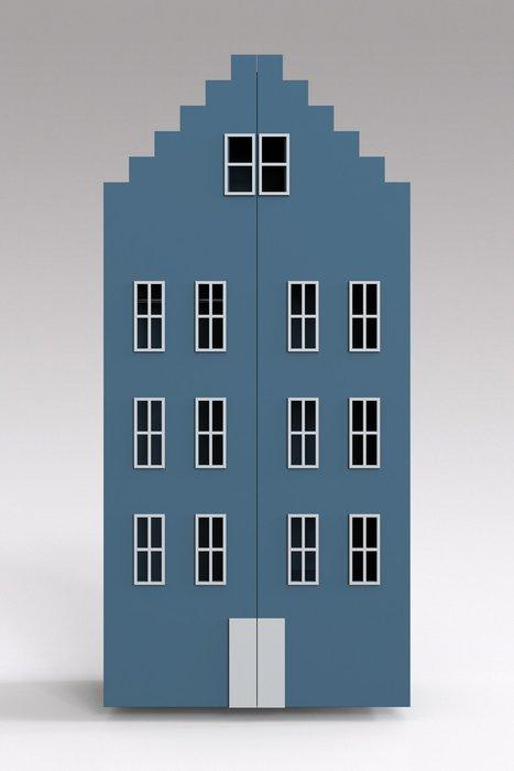 Двойной шкаф-домик Брюгге Maxi синего цвета