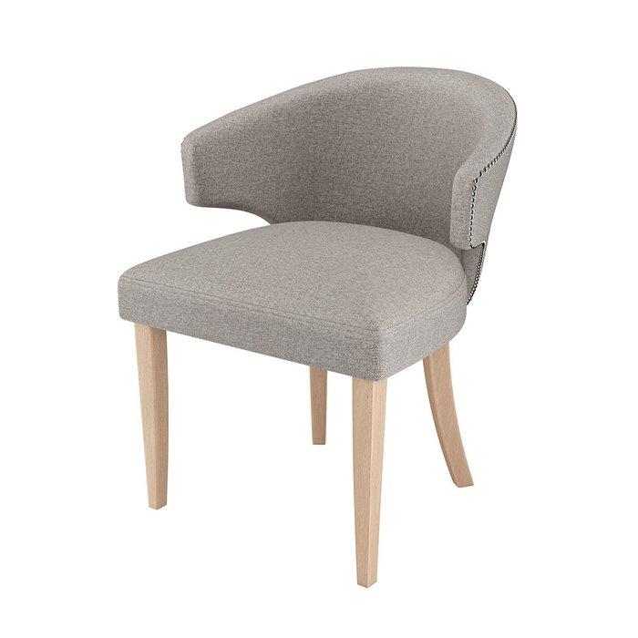 Стул-кресло мягкий Verbena светло-серого цвета