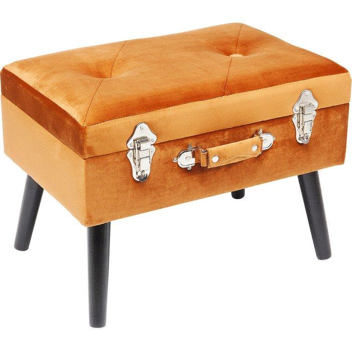 Пуф Suitcase оранжевого цвета