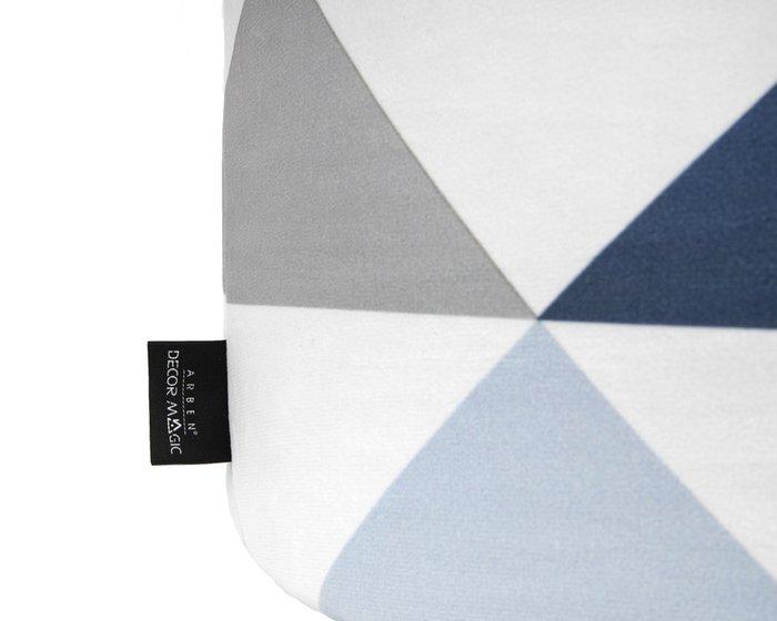 Пуф Спутник Olaf с узором серо-синего цвета