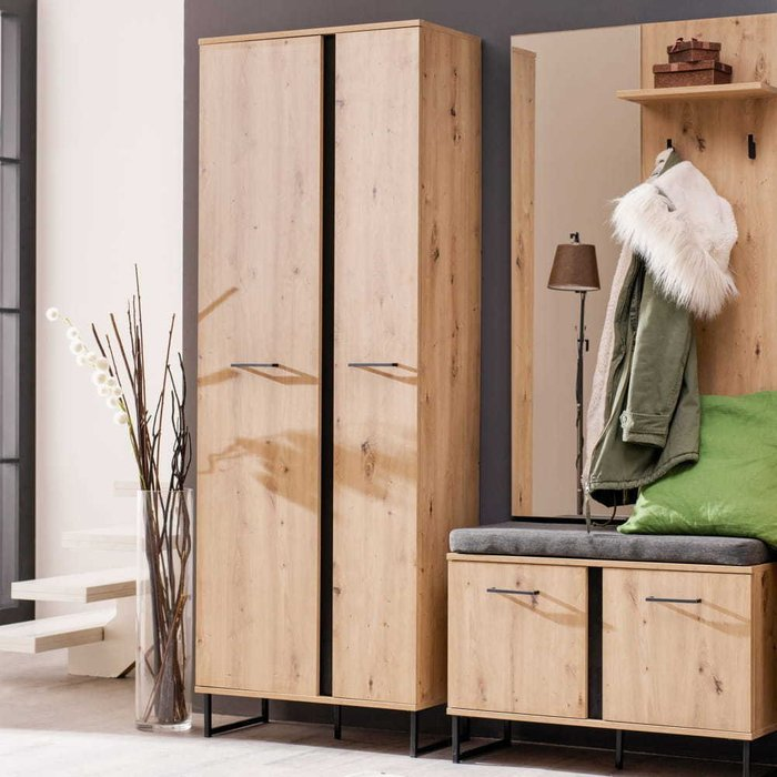 Шкаф распашной Sardinia цвета Дуб артисан черный