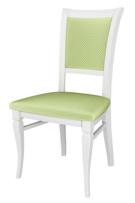 Стул деревянный Верона бело-зеленого цвета