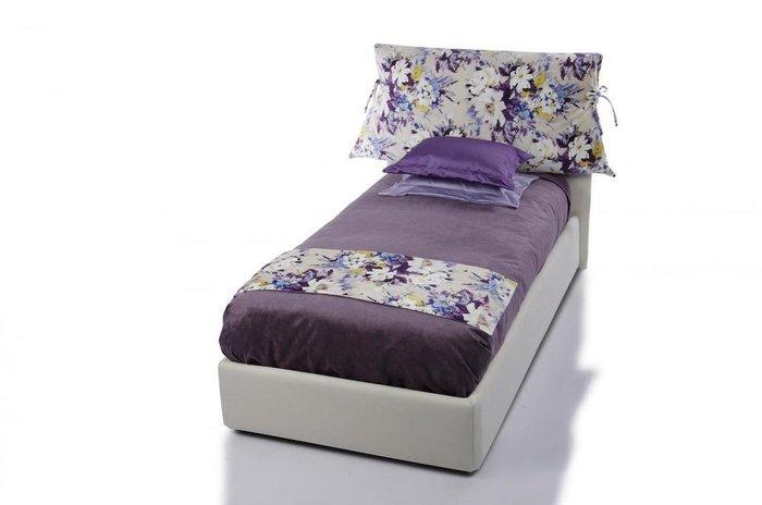 Кровать Lounge 90х200 с подъемным механизмом белого цвета