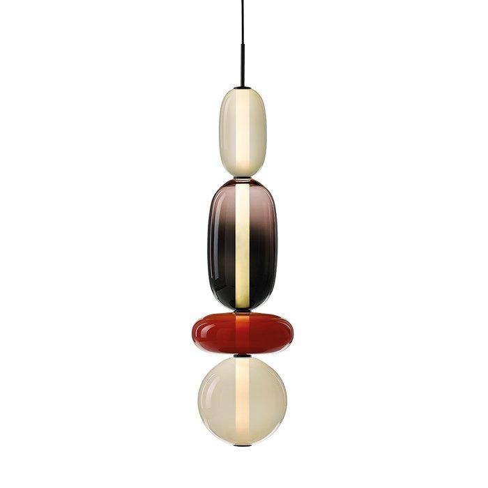 Подвесной светильник из нескольких плафонов из стекла