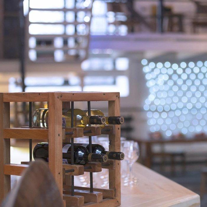 Подставка для вина Мини коричневого цвета