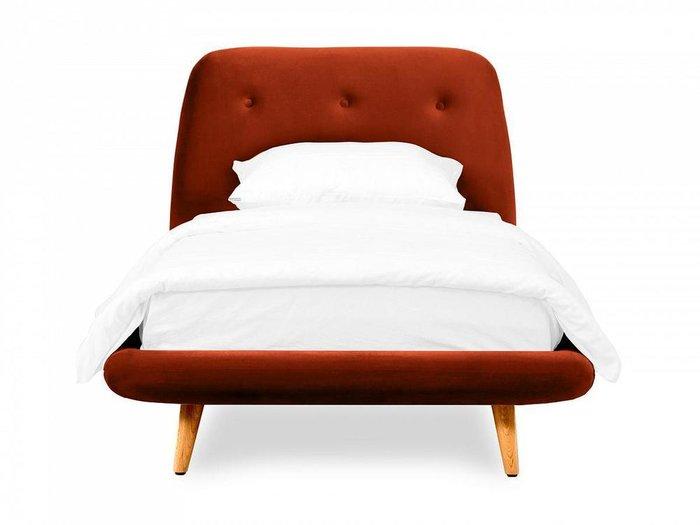 Кровать Loa 90х200 терракотового цвета