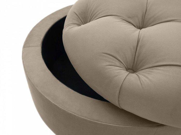 Пуф Meggi коричневого цвета с емкостью для хранения