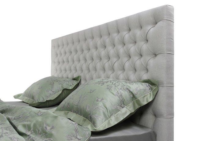 Кровать Vision 160х200 с подъемным механизмом светло-серого цвета