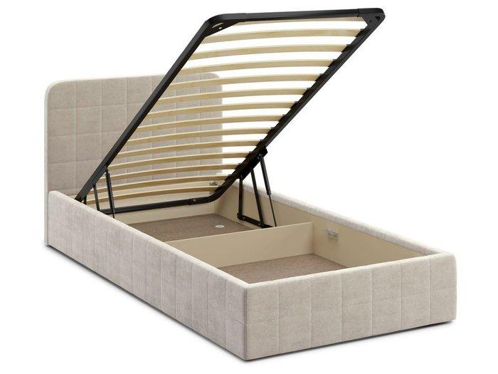 Кровать с подъемным механизмом Adda 120х200 бежевого цвета