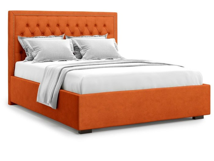 Кровать с подъемным механизмом Orto 160х200 оранжевого цвета