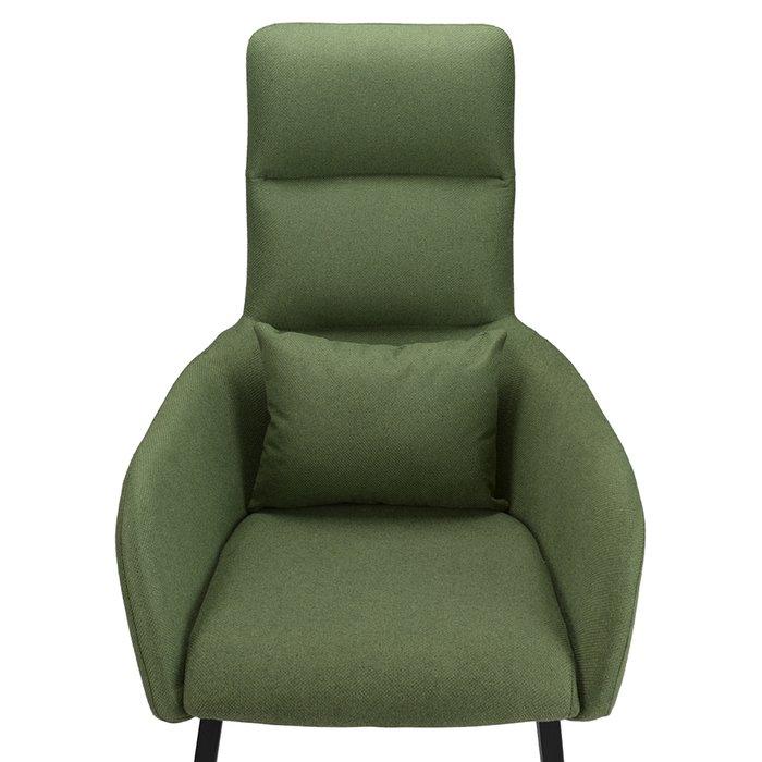 Кресло с подставкой для ног и подушкой Bridjet зеленого цвета