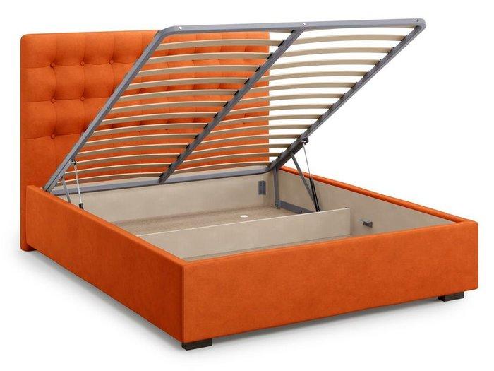 Кровать с подъемным механизмом Brayers 180х200 оранжевого цвета