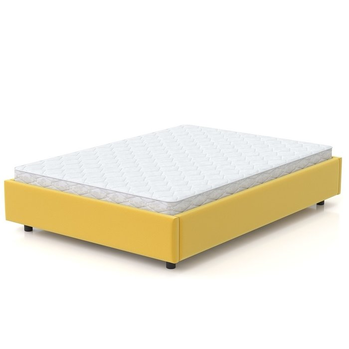 Кровать SleepBox 120x200 желтый велюр