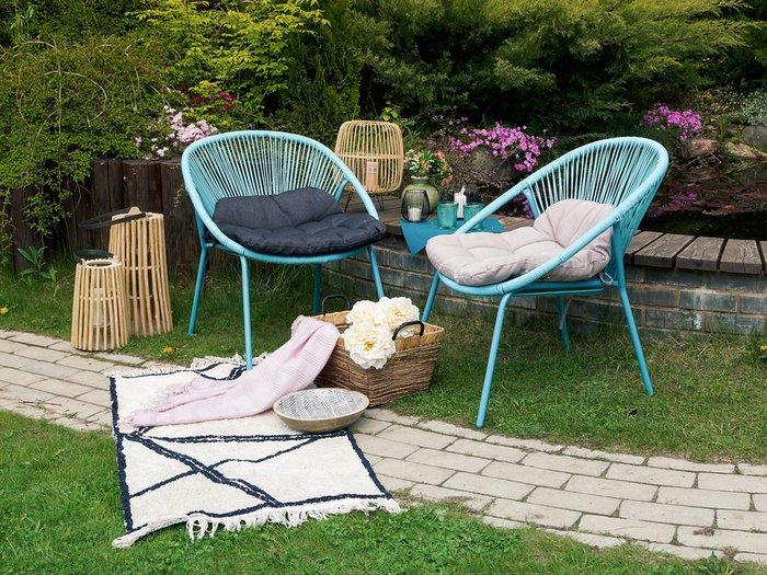 Кресло Breeze Blue с металлическим каркасом