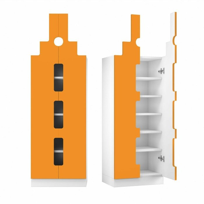 Шкаф Амстердам оранжевого цвета