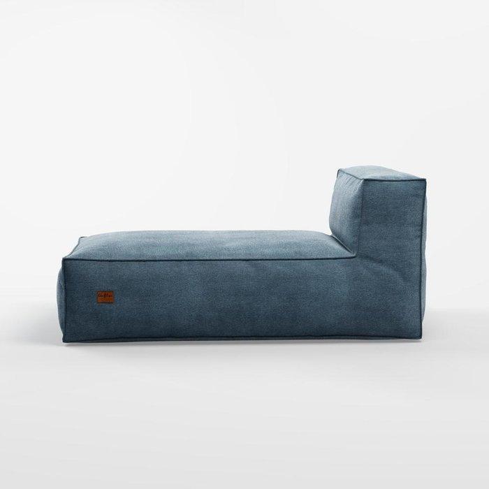 Лежак Flat темно-синего цвета