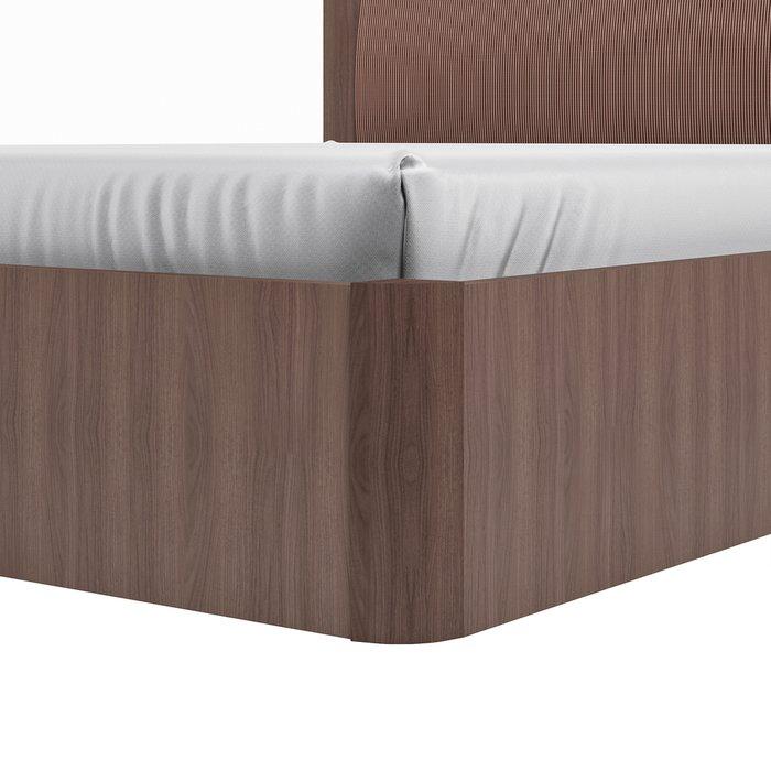 Кровать Магна 160х200 коричневого цвета с подъемным механизмом