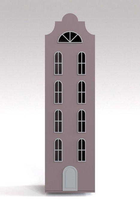 Шкаф-домик Стокгольм цвета тёмная роза