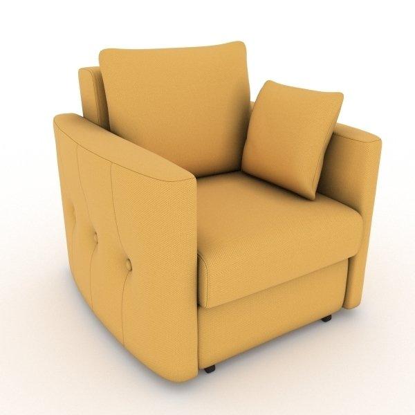 Кресло-кровать Luna желтого цвета