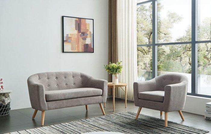 Кресло Florence серо-бежевого цвета