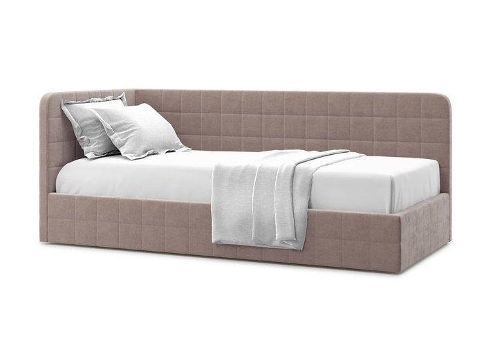 Кровать с подъемным механизмом Tichina left 120х200 темно-бежевого цвета