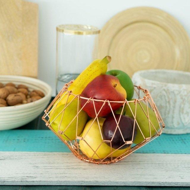 Ваза-трансформер для фруктов Multi Form медного цвета