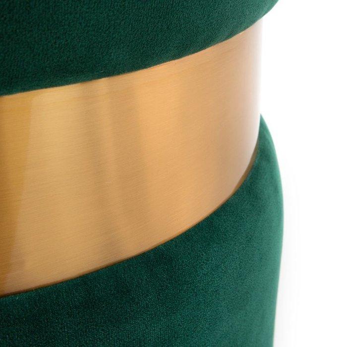 Пуф велюровый Luxore зеленого цвета