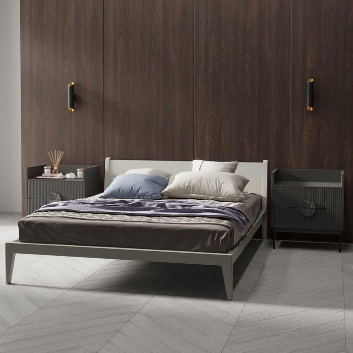 Кровать Fly цвета серый монохром 180х200