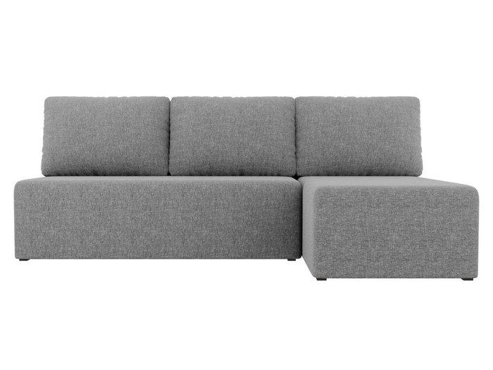 Угловой диван-кровать Поло серого цвета