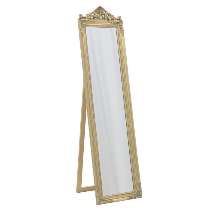 Напольное зеркало в раме из полистоуна