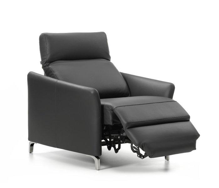 Кожаное кресло Minerva черного цвета