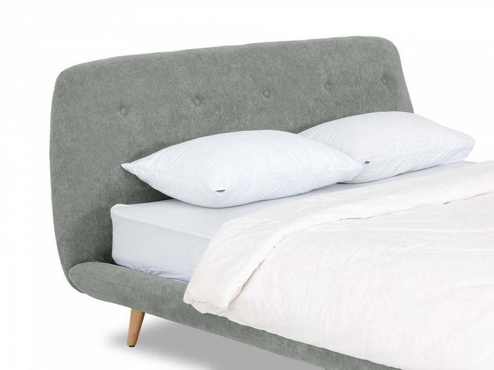 Кровать Loa 160х200 серого цвета