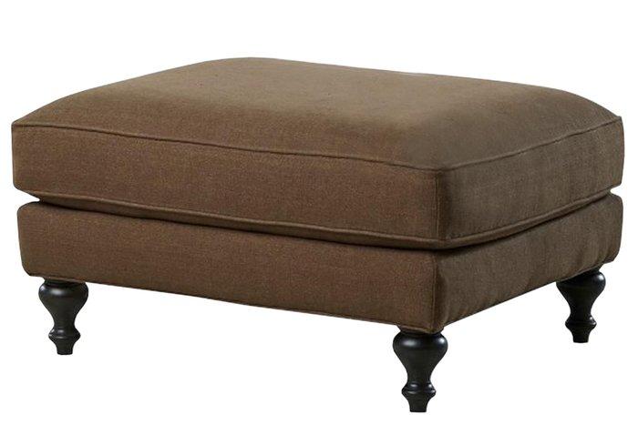 Прямоугольный пуф коричневого цвета