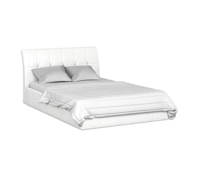 Кровать Инуа 140х200 белого цвета с подъемным механизмом