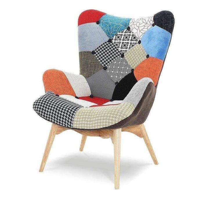 Кресло Phyllis patchwork с принтом лоскутный микс