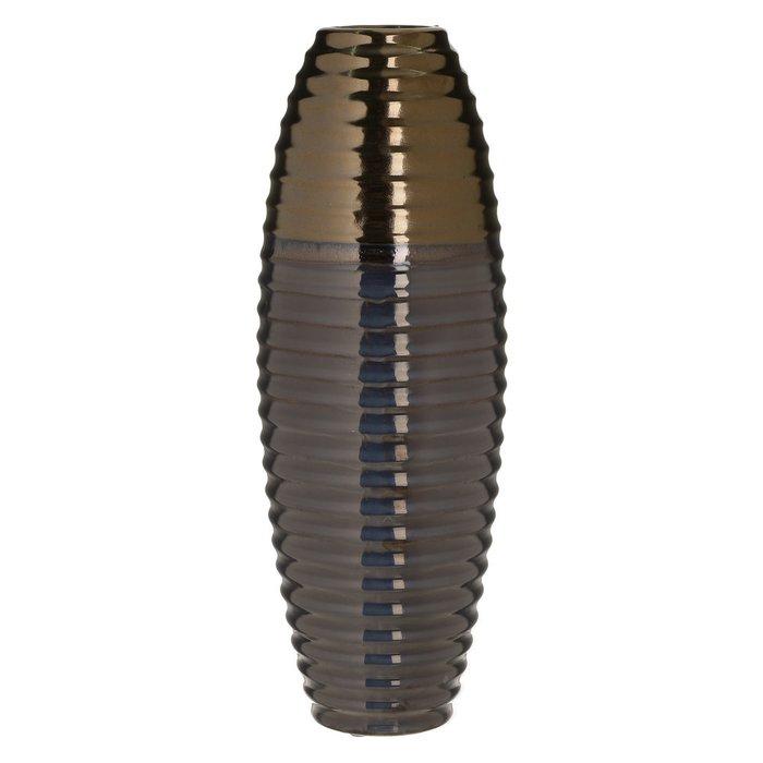 Керамическая ваза черно-золотого цвета