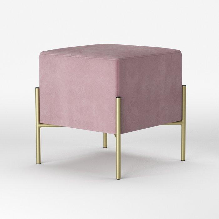 Пуф Cube розового цвета