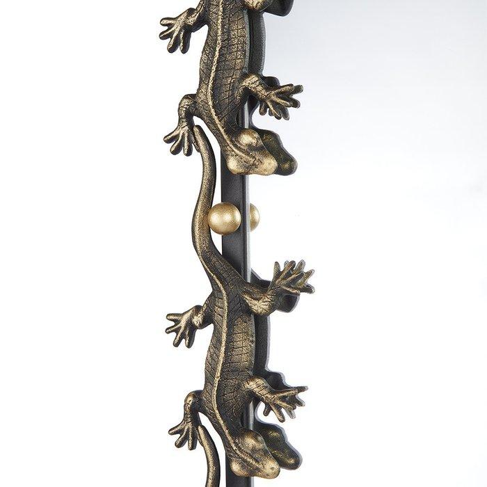 Зеркало настенное Ящерицы черно-золотого цвета
