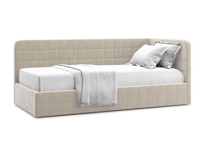 Кровать с подъемным механизмом Tichina 120х200 бежевого цвета