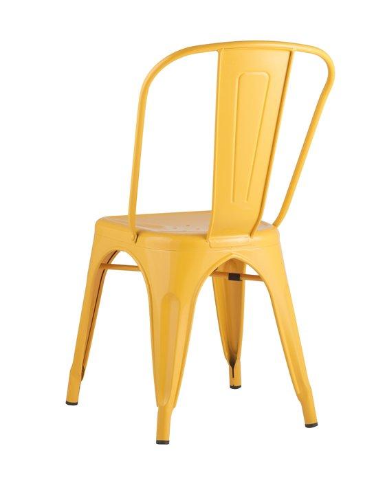 Стул Tolix желтого цвета