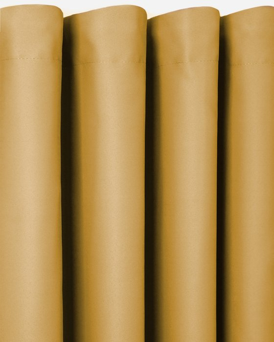Штора блэкаут Mustard 170х270 желтого цвета