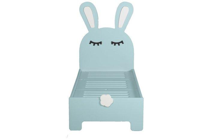 Детская кроватка Sleepy Bunny цвета ментол